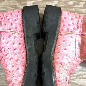 Ariat Shoes - Ariat pink ostrich fat baby round toe short boots